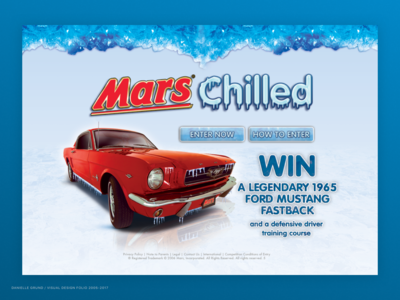 Landing page for Mars chilled campaign 2009