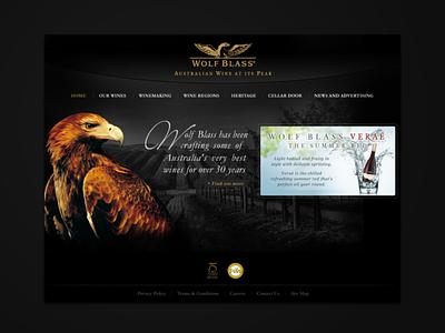 Wolf Blass / DTDigital 2008-2009 ui old school web design 2008 concept design web design landing page