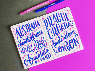 Travel Bucket List typography inspired hand lettered font typography art handmade font lettering brush lettering