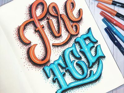 Fire & Ice typography inspired typography design typography typography art hand lettered font handmade font hand lettering lettering brush lettering