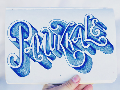 Pamukkale, or the Cotton Castle typography typography inspired typography design typography art hand lettering handmade font lettering