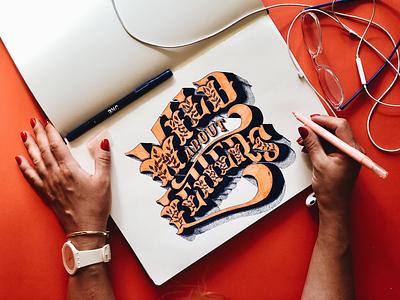 Wild about Letters brush lettering lettering design typography inspired typography design typography art handmade font lettering