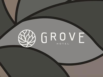 Grove Hotel Brand responsive design wix web design business card brand book logotype design logotype logo design typography stationary brand assets brand agency branding design branding handmade logo logo