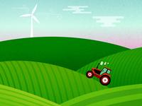 Tractor Field Illustration