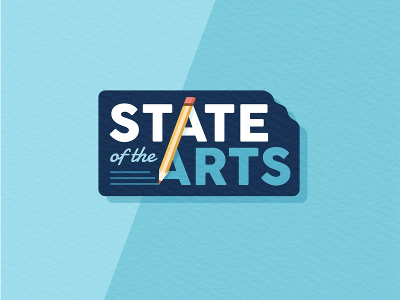 State Of The Arts Logo primary logo branding kansas arts pencil art education hot topic politics campaign texture illustrator illustration text vector badge logo badge logo design logo