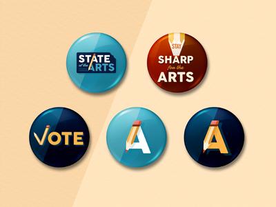 Art Education Campaign Buttons