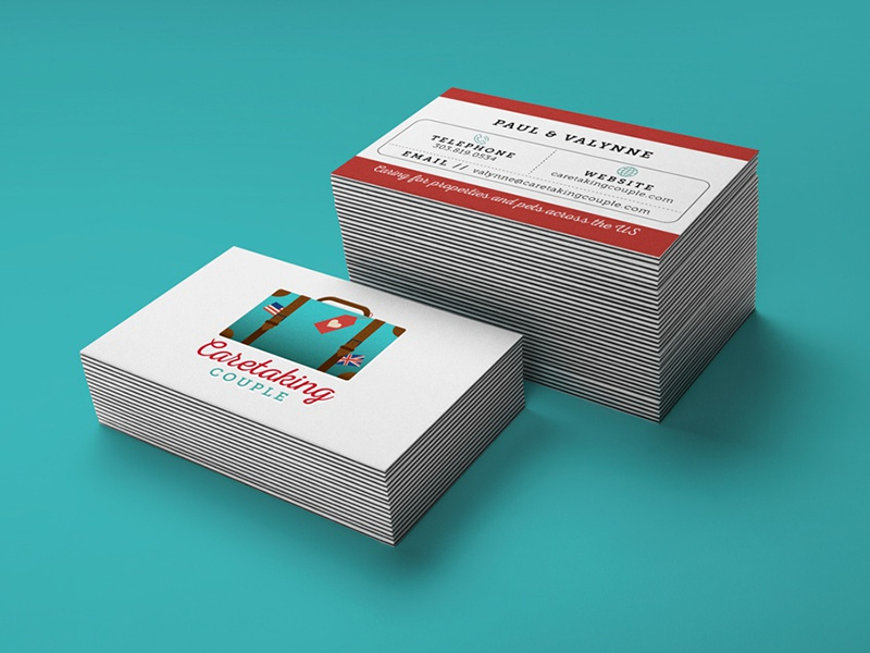 Caretaking Couple Branding business cards identity logos branding