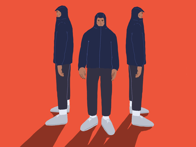 Windbreaker photoshop concept art character design character style guide styleframe adobe illustration