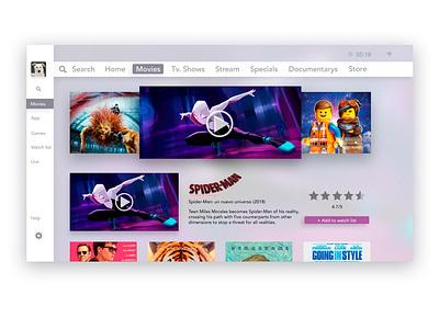 Tv App ux design app ui daily