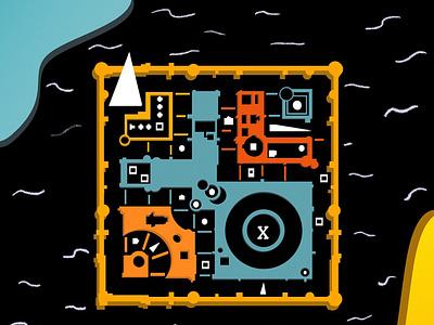 Map skech illustration procreate design ui daily