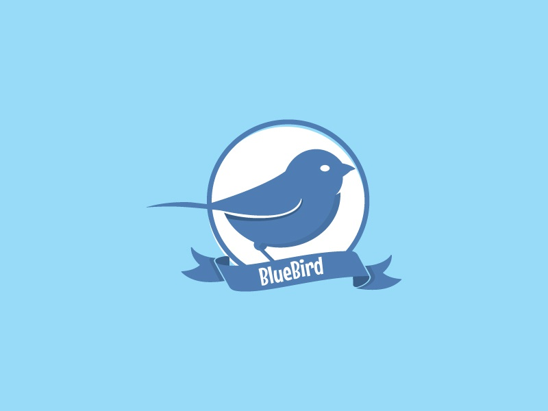 Bluebird bird logo vector illustration
