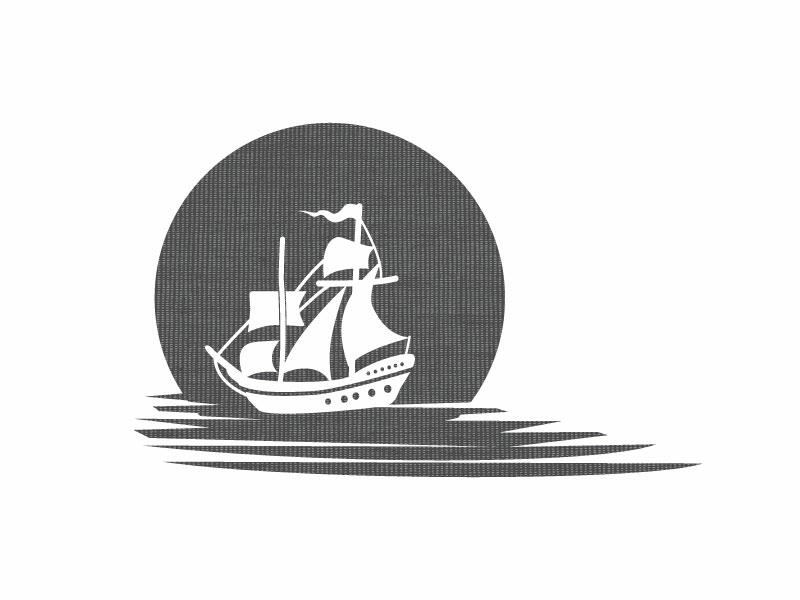 Ship ship travel logo vector illustration