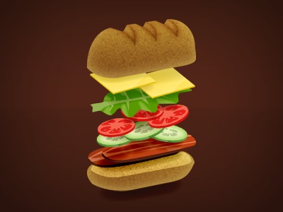 Who's hungry? sandwich food icon vector scalable
