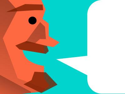 Mini(malist) Me minimalist vector quickie avatar social networks