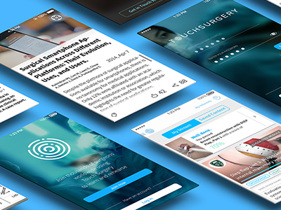 Touch Surgery ux ui surgery ios registration news stream simulation