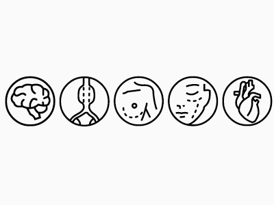 Surgery Categories vector font icon