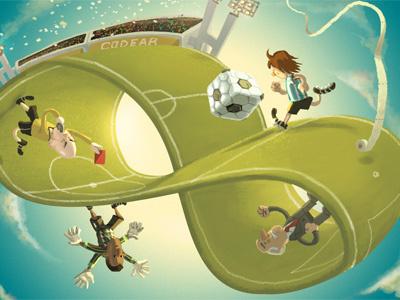 Fútbol illustration games soccer football sports cute surrealism