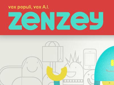 Zenzey2 brand logo mascot webdesign ui web 2.0 font