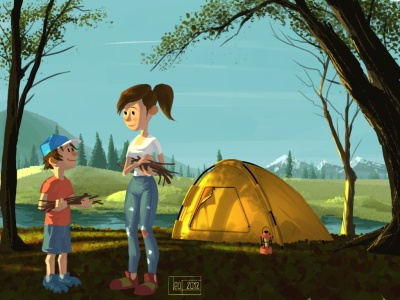 Campground 2 concept art character design quickie