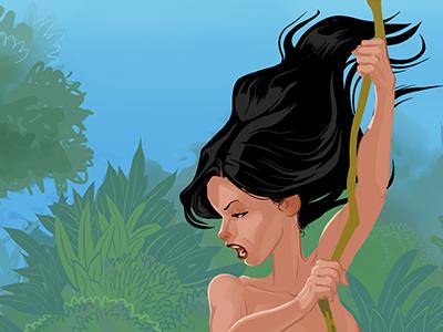 Tarzana (WIP) concept art character design illustration comic