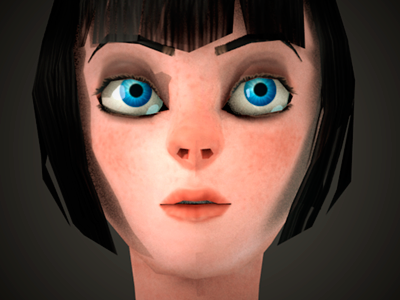 Ursula 3d lowpoly expression