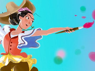 Freeda character design illustration character painting
