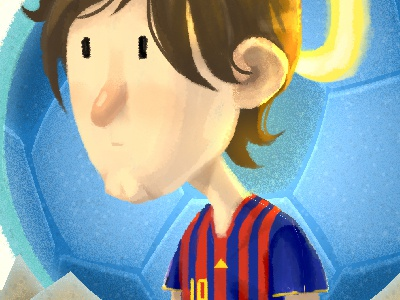 Saint Lio Detail football soccer people painting character illustration character design