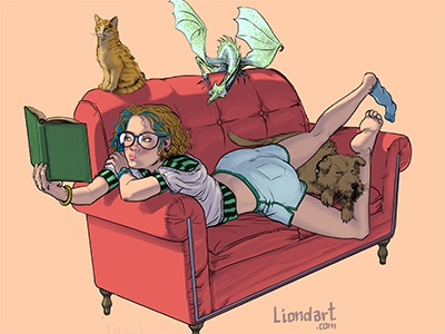 Couch Girl  character comic animals