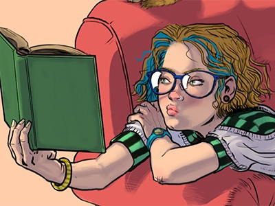 Couch Girl (d) character comic animals