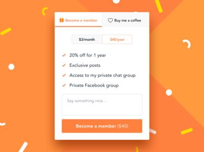 New membership widget