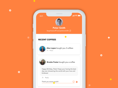 Buy Me A Coffee for iPhone ux mobile app mobile app design design ios app app ios mobile ui