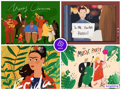 My favorite 4 illustrations in 2018