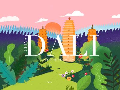 Landscape illustration-Dali