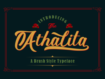 Athalita - Brush Font