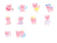 可爱小粉猪