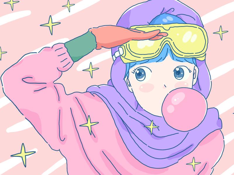 Teenage girl illustration art