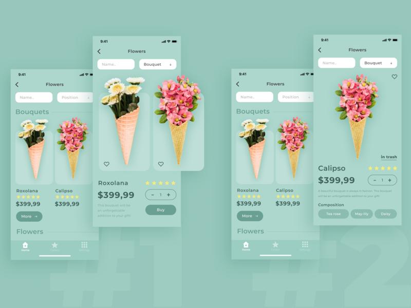 Order flowers / app concept minimal flat app design ux ui