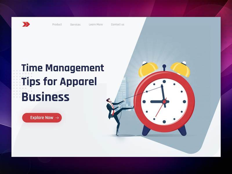 Time Management Landing Page Shot website ui ui design landing page web ui ux design ux illustration vector