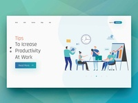 Productivity Tools Landing Page Shots
