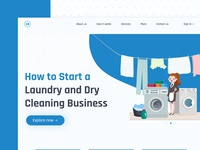 Dry Cleaning Webpage Design