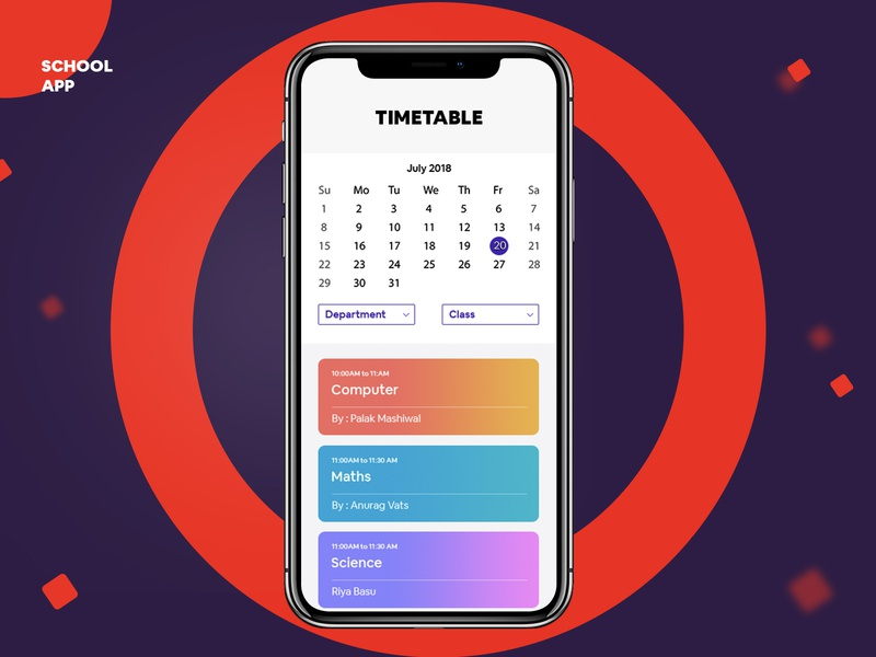 School Management App 😊 icon ui ux design ui