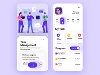 Task Management App prototype ux research design app ui design ui icon ux ui ux design