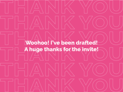 Drafted!