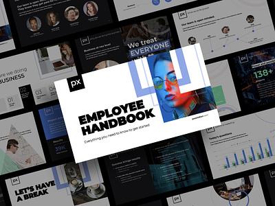 Employee Handbook Google Slide Preview employees handbook ebook book employee google slides presentation slides google