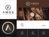 Amos - Wood Watches Logo Design