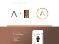 Amos - Wood Watches Logo Design & App Prototype
