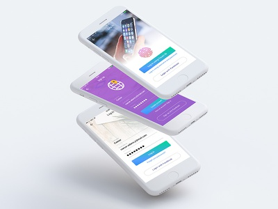 Money & Time Organizer iOS App UI/UX - Login/Signup screens colors wireframe time money ux ui iphone ios app login sign up mobile