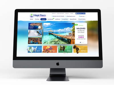 Travel Agency Country Main Page social facebook hover user slider menu banner selector africa country agency travel