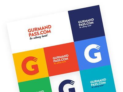 Gurmandpass - The culinary Tourist branding vector colorscheme design logotype gurmand logo