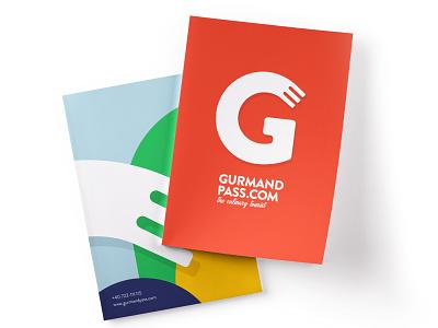 Gurmandpass - The culinary Tourist - Brochure vector cover design brochure design branding design